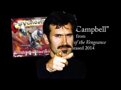 Bruce Campbell + lyrics [Official] by PSYCHOSTICK online metal music video by PSYCHOSTICK