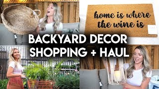 OUTDOOR DECOR SHOP WITH ME + HAUL