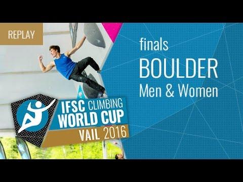 IFSC Climbing World Cup Vail 2016 - Bouldering - Finals - Men/Women