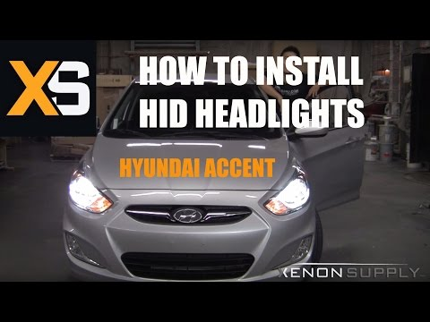 Hyundai Accent HID - How to Install HID Xenon 2011+