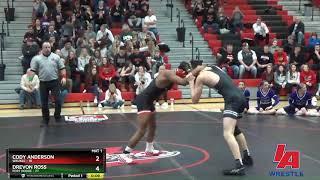 Drevon Ross (Fort Dodge) over Cody Anderson (Waukee) (Dec 10-8)