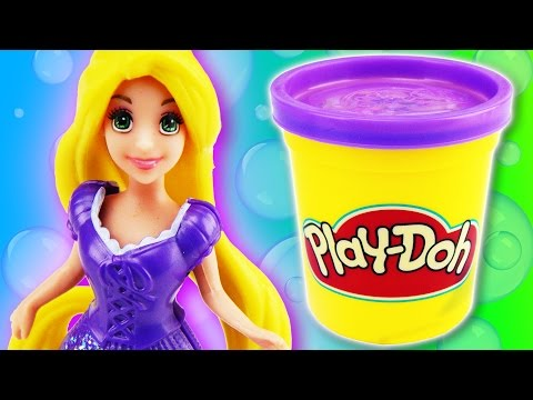 Play Doh Rapunzel Disney Princess - How to make a playdough dress by supercool4kids