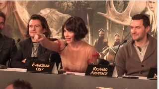 What word sums up your experience of NZ? The Hobbit Battle of the Five Armies Press Conf