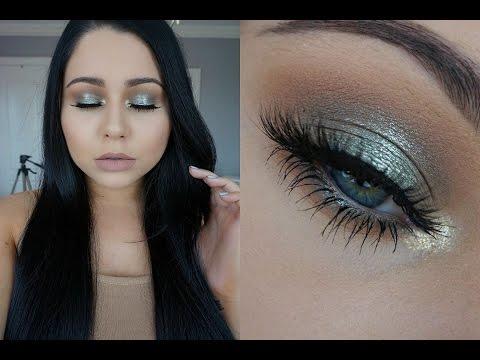 Wearable Olive Green Smokey Eye Makeup Tutorial