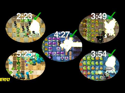 Plants vs. Zombies 2 - Every Zomboss Fight!