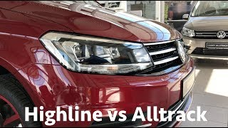 Volkswagen Caddy Alltrack vs Highline 2018 - comparison & review in 4K