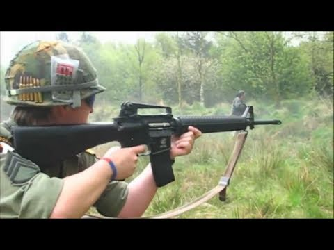 Airsoft War M60 M16, LAW 80 Rocket