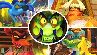 Crash Team Racing Nitro Fueled - All Bosses + Cutscenes