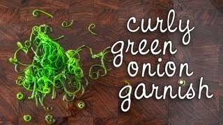 How to Make Curly Green Onion Garnish