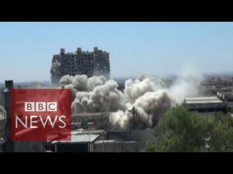 Inside Syria: Subterranean battle in Damascus- BBC News