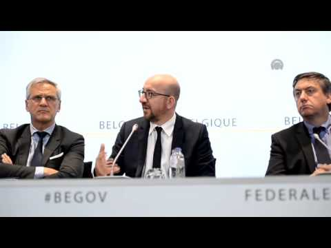 Belgian PM Charles Michel's press conference