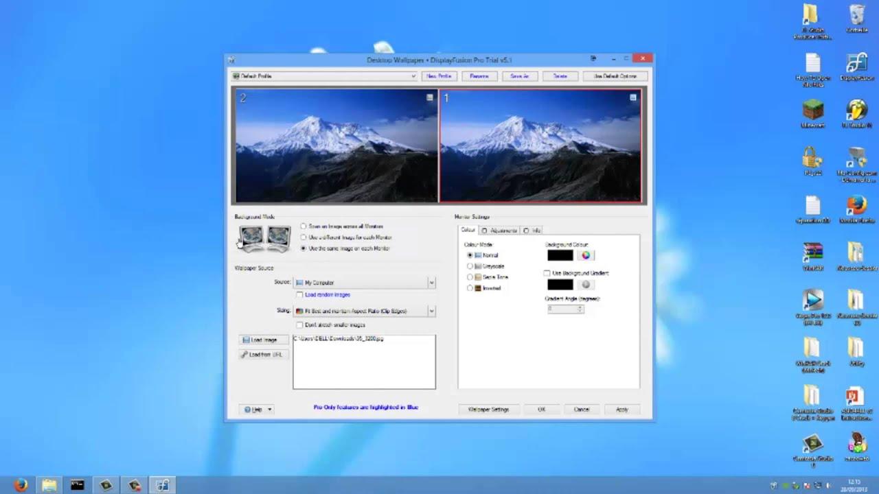TUTO fond d'écran étendu sur deux écrans (Facile) - YouTube