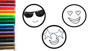 Coloring Emoji | Funny drawings for children I WE ART KIDS