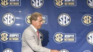 Nick Saban speaks at SEC Media Days 2016