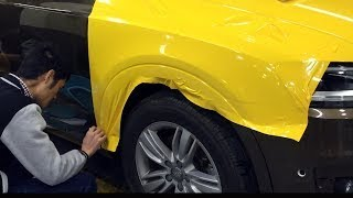 How to vinyl wrap a car fender. Full Video. HD