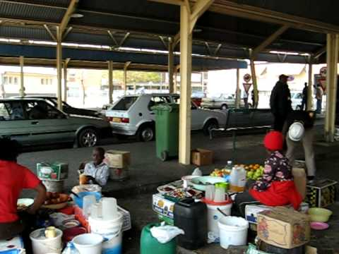 Windhoek (Namibia, Africa)  Food Market from outside.