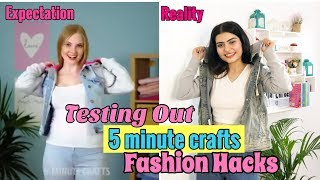 Testing Out Viral Fashion Hacks by 5 MINUTE CRAFTS Pt. 3