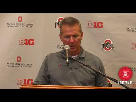 Ohio State HC Urban Meyer speaks after the 2018 Spring Game.