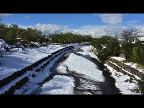 Nieve en Santiago 2017