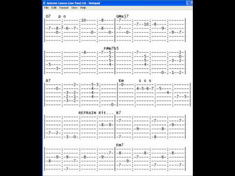 how to play forever autumn on guitar