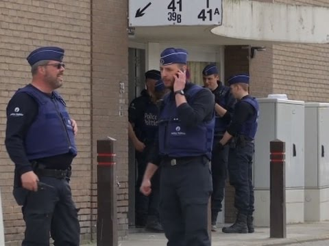 Raw: Police Continue Raid Operations in Brussels
