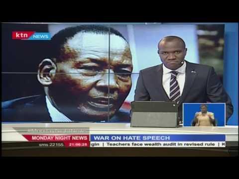 Interior Cabinet Secretary Joseph Nkaissery warns leaders inclined to promote hate speech