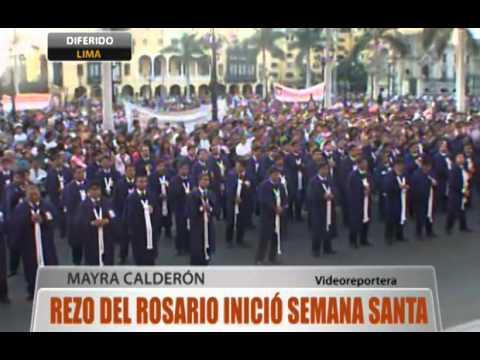 Rezo del rosario inició la Semana Santa