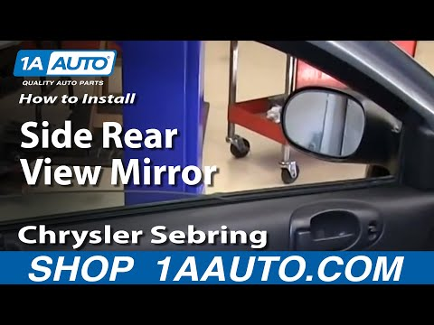 How To Install Replace Side Rear View Mirror 2001-06 Chrysler Sebring