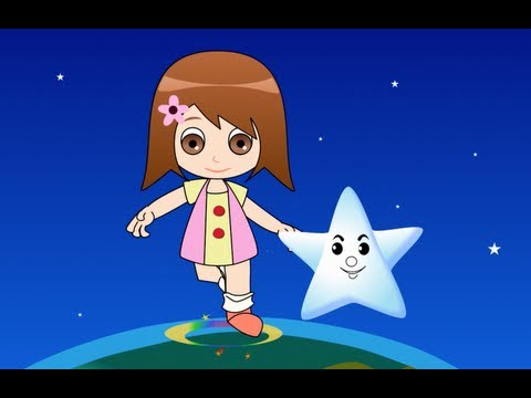 Twinkle Twinkle Little Star with Lyrics - Kids Songs Nursery...