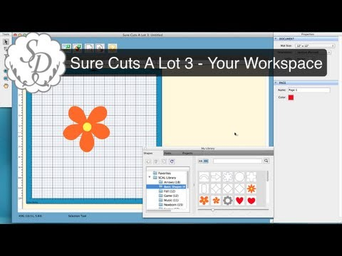 Sure Cuts A Lot 3 - Customize the Workspace