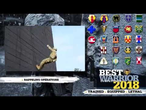 A video retrospective of the 2018 U.S. Army Reserve Best Warrior Competition, June 10-15, at Fort Bragg, N.C.  Produced by 372nd Mobile Public Affairs Detachment, 982nd Signal Company (Combat Camera), 108th Training Command (Initial Entry Training), and U.S. Army Reserve Command Public Affairs.