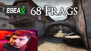 CS:GO | Mixwell 68 Frags ESEA Pug [16-14] All Frags Highlights