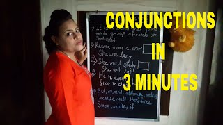 conjunctions in english grammar with examples in hindi| Learn Grammar 'Conjunctions' In 3 Minutes.