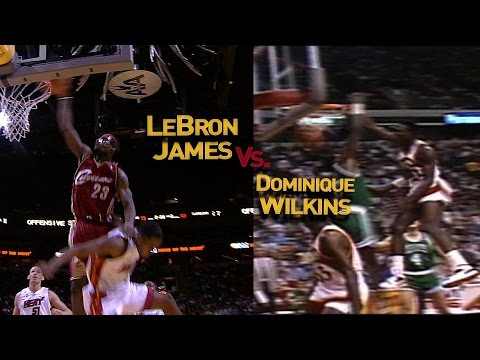 LeBron James vs. Dominique Wilkins In-Game Dunk Off