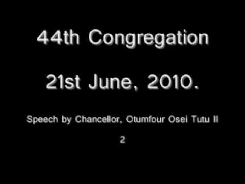 44 Congregation: Chancellor's address 2
