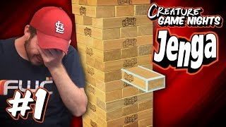 NOT POSSIBLE - Jenga Pt1 | Creature Game Nights