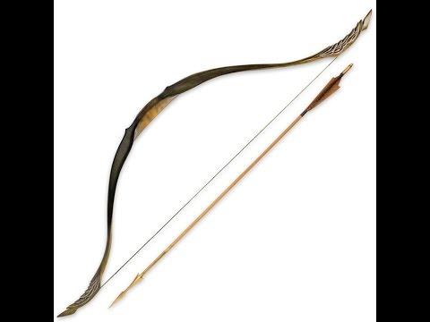 Arco con flecha Legolas. El hobbit: La desolación de Smaug. Escala 1:1. United Cutlery