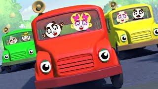 Wheels on the Bus | Panda Bo Nursery Rhymes & Kids Songs