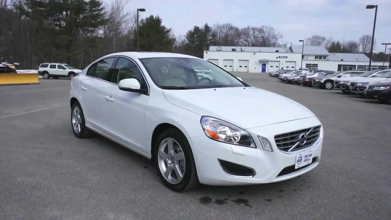 2013 S60 T5 AWD in Ice White with Off-White Leather at PortlandVolvo.com - YouTube