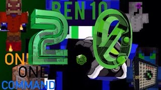 Omnitrix  2.0 in Only One Command! Ben 10 In vanilla minecraft! Heatblast, XLR8, and Ghostfreak