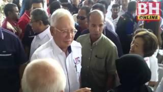 Najib tiba di Majlis Perasmian UTC Sungai Petani