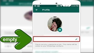 Whatsapp Ultimate Trick to Create Whatsapp Profile & Group without Name in Android