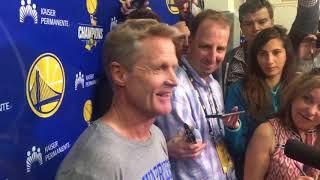 Steve Kerr on how Warriors bounce back in Game 3