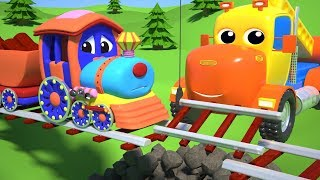 BABY CHU CHU TRAIN TRACK REPAIR WITH THE CONSTRUCTION MIGHTY MACHINES