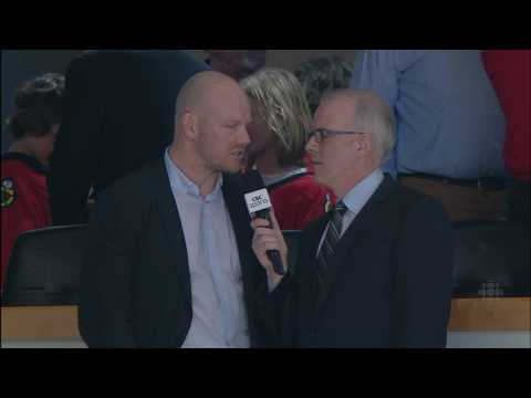 Mats Sundin Interview in Game 5 - Canucks At Blackhawks - 2010 Playoffs - 05.09.10 - HD Video