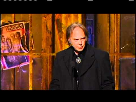 Neil Young inducts Pretenders Rock and Roll Hall of Fame Inductions 2005