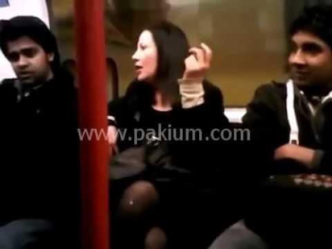 Drunk British Woman Abuses Pakistani in London Metro