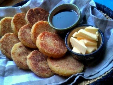 Mini and Large Harcha, Moroccan Semolina Bread  وصفة الحرشة المغربية