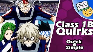 The Quirks of Class 1B For Your Reference