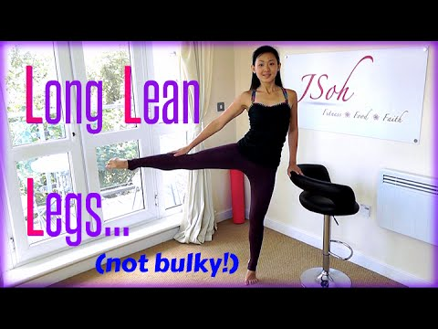 Long Lean Dancer Leg Exercises (Not Bulky!)